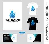 technology logo design ... | Shutterstock .eps vector #1728684838