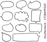 dialog box icon  chat cartoon... | Shutterstock .eps vector #1728699265
