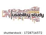 usability study word cloud... | Shutterstock . vector #1728716572