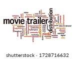 movie trailer word cloud... | Shutterstock . vector #1728716632