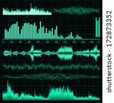 sound waves set. music... | Shutterstock .eps vector #172873352