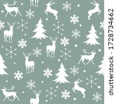 seamless christmas pattern with ... | Shutterstock .eps vector #1728734662