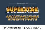 golden bright cartoon comics...   Shutterstock .eps vector #1728745642
