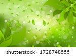leaf on blurred greenery... | Shutterstock .eps vector #1728748555
