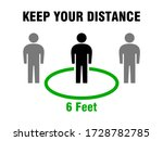 keep your distance social... | Shutterstock .eps vector #1728782785
