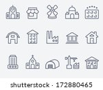 set of house icons | Shutterstock .eps vector #172880465