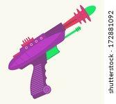 vintage inspired ray gun | Shutterstock .eps vector #172881092