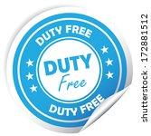duty free sticker.jpg | Shutterstock . vector #172881512