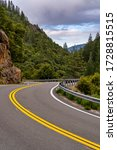 Winding Mountain Road In The...