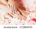 beaty and healthcare   closeup... | Shutterstock . vector #172884935