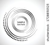 halftone dots in circle form.... | Shutterstock .eps vector #1728850525