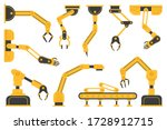 set of robotic hand tools or... | Shutterstock .eps vector #1728912715