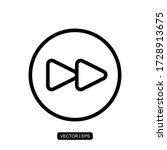 fast forward button icon vector ...