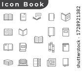 vector illustration of 19 book...   Shutterstock .eps vector #1728921382
