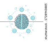 brain continuous line icon.... | Shutterstock .eps vector #1728943885