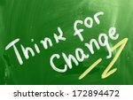 think for change concept | Shutterstock . vector #172894472