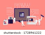 manufacture of semiconductors... | Shutterstock .eps vector #1728961222