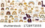 decorative vector abstract art... | Shutterstock .eps vector #1728973555