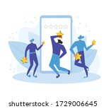 app feedback concept. client...