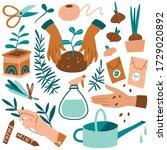vector hand drawn illustrations ... | Shutterstock .eps vector #1729020892