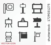 signage icon. signboard flat...   Shutterstock .eps vector #1729031275