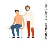 woman dermatologist in medical...   Shutterstock .eps vector #1729042738
