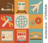 retro transportation icons flat ... | Shutterstock .eps vector #172904336