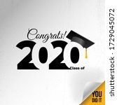 class of 2020 with graduation... | Shutterstock .eps vector #1729045072