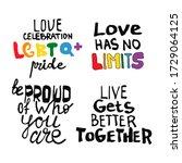 set phrases. lettering outline... | Shutterstock .eps vector #1729064125
