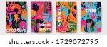 summer abstract vector... | Shutterstock .eps vector #1729072795