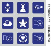 Set Of 9 Icons Such As Downloa...