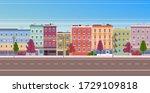 city facade buildings town... | Shutterstock .eps vector #1729109818