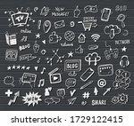 social media  digital marketing ... | Shutterstock .eps vector #1729122415