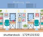 vector cartoon background on... | Shutterstock .eps vector #1729131532