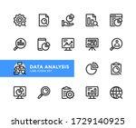 data analysis vector line icons....   Shutterstock .eps vector #1729140925