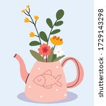 Pink Teapot With Painted Fish...