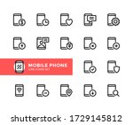 mobile phone vector line icons. ...