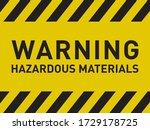 warning hazardous materials...   Shutterstock .eps vector #1729178725