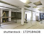 Small photo of Johannesburg, South Africa - October 17, 2016: Inside interior of a small spaza shop grocery store undergoing renovation improvements in Soweto township