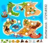 pirate treasure map | Shutterstock .eps vector #172918532