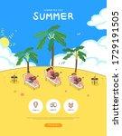 summer shopping event... | Shutterstock .eps vector #1729191505