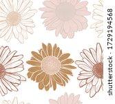 elegant seamless pattern with... | Shutterstock .eps vector #1729194568