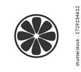 orange slice icon isolated on...   Shutterstock .eps vector #1729234612