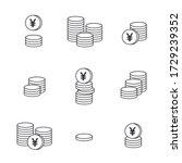 coins icon. yen coin. yuan coin ...   Shutterstock .eps vector #1729239352