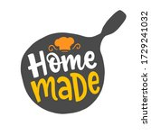 home made quote in pan shape ... | Shutterstock .eps vector #1729241032