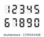 electronic numbers. digital...   Shutterstock .eps vector #1729241428