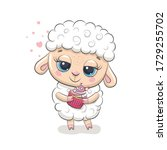 Cute Baby Sheep With Cupcake....