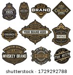 set of logos  labels and... | Shutterstock .eps vector #1729292788