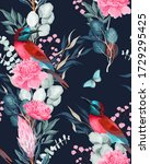 vector seamless pattern with... | Shutterstock .eps vector #1729295425