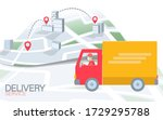 3d map point location business...   Shutterstock .eps vector #1729295788